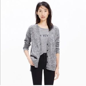 Madewell Heathered Gray Landscape Cardigan